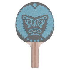 Ping Pong Paddle STONE-EYED GOD black blue Scary Lion, Ping Pong Paddles, Shades Of Green, Dungeons And Dragons, Gods Love, Symbols, Stone, Illustration, Artwork