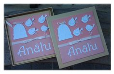 Diario do bebe e caixa, personalizados com a mesma identidade visual em scrapbook Amor no Papel  www.amornopapel.com.br