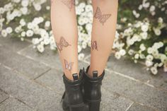 DIY butterfly print tights