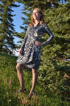 Modest Fashion Repetition to Accentuate, Style Journey #yycfashion #wrapdress #animalprint #fionaoutfits