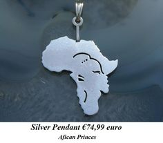Silver pendant Africa Princes