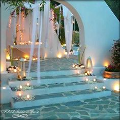 So beautiful wedding decoration ! Romance in Greece!