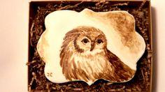🎨 Как нарисовать кофейную сову на прянике / how to draw a coffee owl on ...