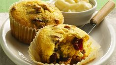 The smell of these fresh-baked muffins, filled with tart-sweet cranberries, will get everyone running to breakfast.