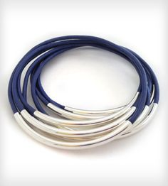 Violet Leather Bangles | Jewelry Bracelets | Leather Wraps | Scoutmob Shoppe | Product Detail