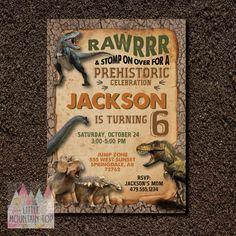 Dinosaur Birthday Invitation Dinosaur Dig por LittleMountainTop