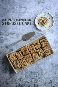 Buttery, moist coffee cake layered with apples and candied ginger and topped with spiced streusel. Perfect for Christmas morning! | Kailley's Kitchen