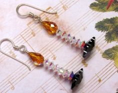 Candle Holiday Earrings by HappyEverythingElse