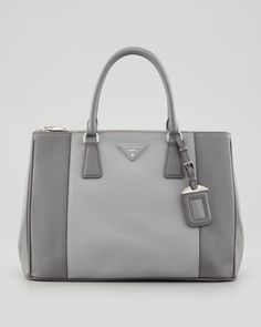 2417da879e18 PRADA TAN SAFFIANO DOUBLE-ZIP SMALL SHOULDER TOTE - Saffiano leather ...