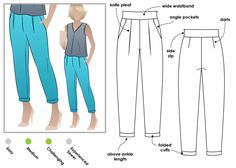 Christia Pant created by Style Arc designed by: Sharmaine Radcliffe 2015