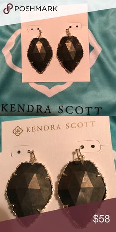 Kendra Scott Corley Great earrings in the color Pyrite! Just like new! I've only worn these once! Kendra Scott Accessories