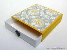 Currygelbe #Schubladenverpackung   http://eris-kreativwerkstatt.blogspot.co.at/2016/04/currygelbe-schubladenverpackung.html  #stampinup #teamstampingart #verpackung