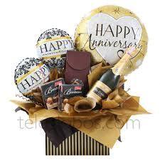 Resultado de imagen para arreglos de globos con chocolates y vino