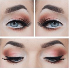 Glowing Orange & Tan Makeup | 7 Spring Makeup Looks To Inspire You, check it out at http://makeuptutorials.com/spring-makeup-looks-makeup-tutorials