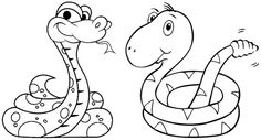 free printable snake coloring pages for kids ginger bread pic