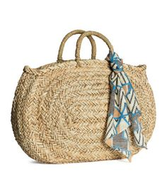 Straw beach bag. H&M. #ACCESSORIZEINHM