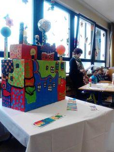 Hundertwasser im kunstunterricht st dtische for Stuhl design kunstunterricht