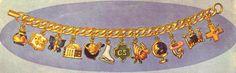 1956 USA charm bracelet