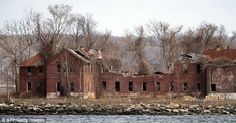 Hart Island and its decaying abandoned prison workhouse