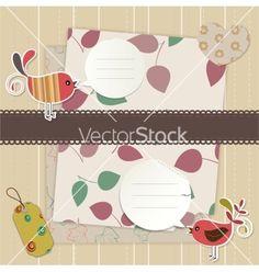 Design elements for scrapbook vector on VectorStock®