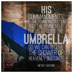 Close your umbrella