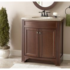 Awesome Websites Shop Style Selections Delyse Auburn Integral Single Sink Bathroom Vanity with Solid Surface Top Common x Actual