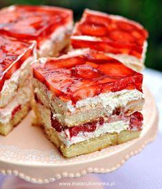 Kliknij, by zamknąć Polish Desserts, Jello Desserts, Jello Recipes, Polish Recipes, Cookie Desserts, No Bake Desserts, Cake Recipes, Polish Food, Mini Cheesecakes