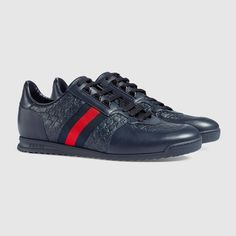Shop the Gucci Official Website. Browse the latest collections, explore the campaigns and discover our online assortment of clothing and accessories. Gucci Shoes, Men's Shoes, Designer Sneakers Mens, Gucci Men, Leather Sneakers, Luxury Fashion, Footwear, Accessories