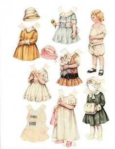 Have an obsession with vintage paper dolls.  I just always loved them.  They make me smile.