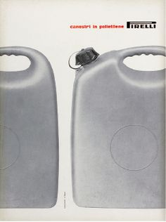 Giulio Confalonieri, Ilio Negri, Annuncio pubblicitario / Advertising Canestri in polietilene, Pirelli, 1960, courtesy Fondazione Pirelli.