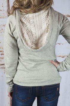 Grey hoodie (back) www.shopallurefashions.com #shopallurefashions