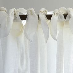 Linen Sheer Tie Top Panel