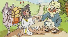 Blog da tia Rebeka: Serie Parábolas: O bom samaritano Toddler Sunday School, Sunday School Lessons, Sunday School Crafts, Good Samaritan, Bible Love, Bible Crafts, Bible Stories, Catholic, Kids