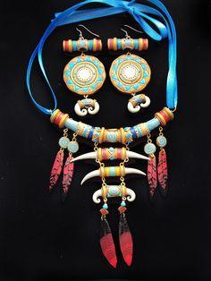 Trolls necklace + earrings set by oione on DeviantArt