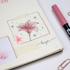 Finally weekend! I really needed it. Close-up from this week. I still have to practice drawing flowers. Next week's spread is full of cherry blossoms (well an attempt to cherry blossoms). Do you have your next weekly spread ready yet? - - - - #bujo #bulletjournal #journal #bujoinspo #bujolove #bujojourney #leuchtturm1917 #leuchtturm1917bulletjournal #diary #stationery #planning #planner #april #flowers #lilly #doodle #doodling #doodles #illustration