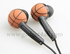 Gadget loving sports fans in general and basketball fans in particular can now match their Wireless Basketball Mouse and Basketball Webcam with a pair of earphones. Product Specifications Basketball design stereo earphone Great gift to basketba Basketball Jewelry, Basketball Tricks, I Love Basketball, Basketball Is Life, Basketball Workouts, Basketball Design, Basketball Gifts, Basketball Quotes, Sports Gifts