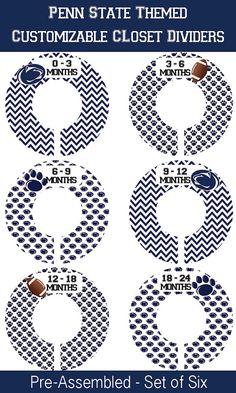 SIX Pre-Made Custom Baby Closet Dividers Penn by iDesignsbyKathy