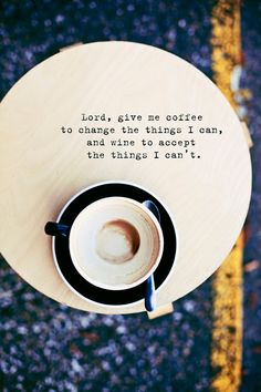 Still Life Coffee Photograph 8 x 12 Print. Cafe, Coffee, Cafe Au Lait, Funny Coffee Quote, Grey, Yellow, Navy Blue, Cup of Coffee, Cream