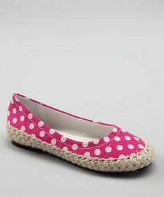Take a look at this Fuchsia Sasha Espadrille Flat by Dotty Shoes on #zulily today!