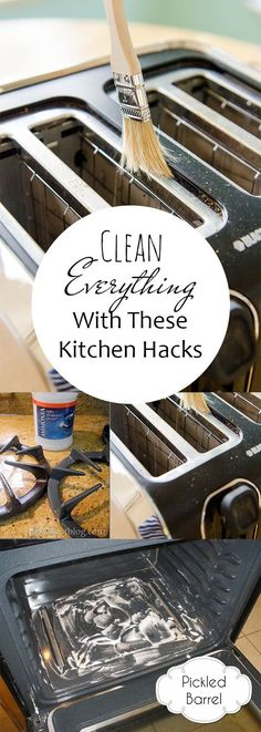 Clean EVERYTHING With These Kitchen Hacks  Kitchen Cleaning, Kitchen Cleaning Hacks, Cleaning Hacks, Clean Home, Clean Home Hacks, Clutter Free Kitchen, Kitchen Cleaning, Popular Pin #Kitchen #Cleaning #CleanKitchen #homecleaningtips