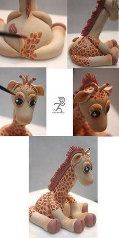 Giraffe Figurine Tutorial - by Ciccio @ CakesDecor.com - cake decorating website