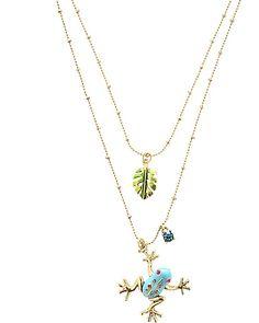 Frog Leaf 2 Row Necklace