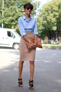 #MFW day 3: Everyone's wearing busting-a-look skirts with boyish cut shirts