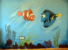 Cool Finding Nemo Wall Mural. @Dan Kroening Part 24