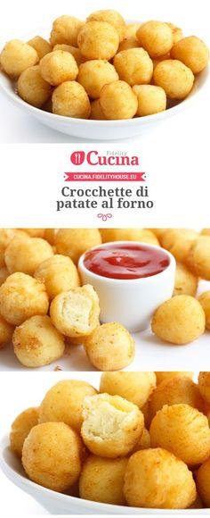 Crocchette di patate al forno Snacks, Snack Recipes, Cooking Recipes, Food Porn, Food Humor, Easy Cooking, Food Hacks, Food Inspiration, Italian Recipes