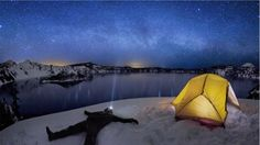 Crater Lake Under the Stars   http://vimeo.com/26968340