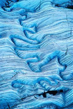 Melting water on glacier (aerial), Wrangell-St. Elias National Park, Alaska