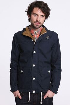 Urban Outfitters - Suit Navy Waxed Samson Jacket
