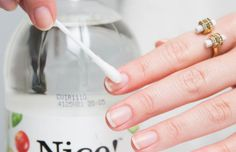 Use a cotton swab to wipe down your nails with white vinegar before applying basecoat. #nailtips #nailcare
