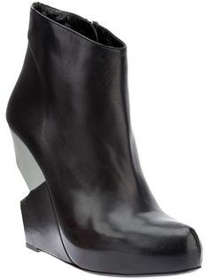 CHARLINE DE LUCA Structured Wedge Boot from Julian boutique
